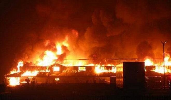 Fire outbreak at Alade Market, Lagos, 70 shops damaged