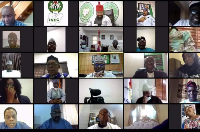 Edo/Ondo Election: Party Leaders, INEC chairman holds virtual meeting
