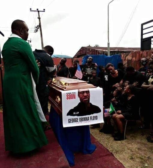 Nigerian Pastor reburies George Floyd in Imo State