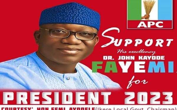 2023: Fayemi's Presidential Ambition Uncovered, Campaign Posters Flood Social Media