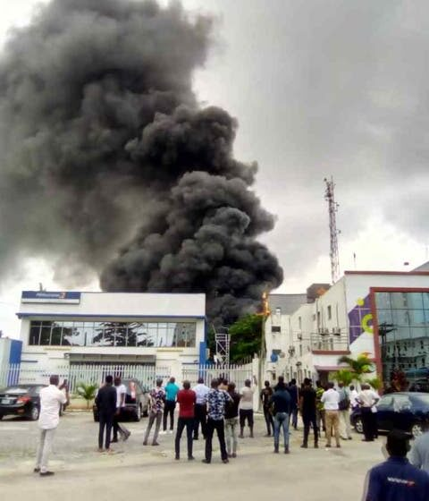 Fire Guts Access Bank Building, Destroys Two Vehicles