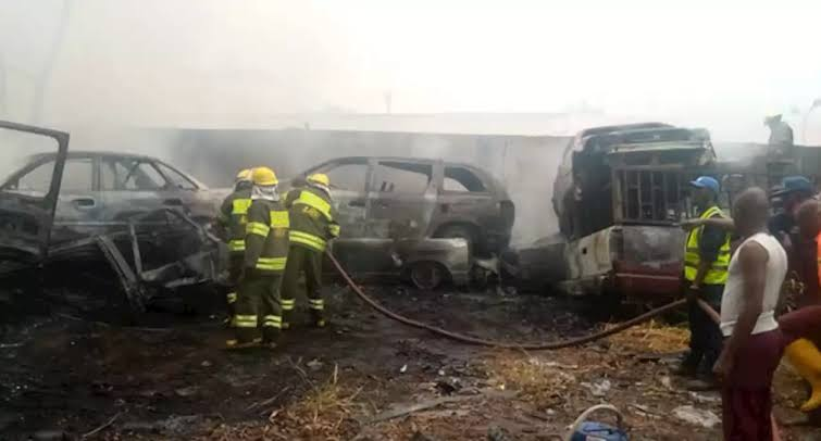 LASTMA Calms Fears Of Vehicle Owners Following Yard Fire