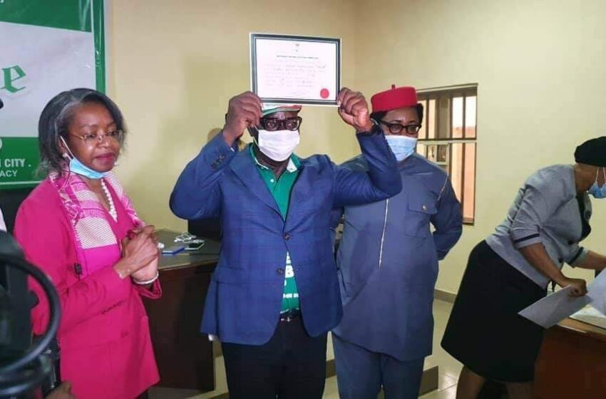 INEC presents certificates of return to Obaseki, Shaibu