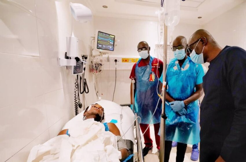 Sanwo-Olu visits wounded #EndSARS protesters in aftermath of Lekki tragedy