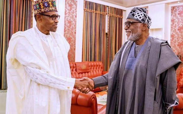Perform better than you did in your first term, Buhari tells Akeredolu