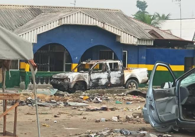 Vandals attack police station during #EndSARS protest in Ekiti