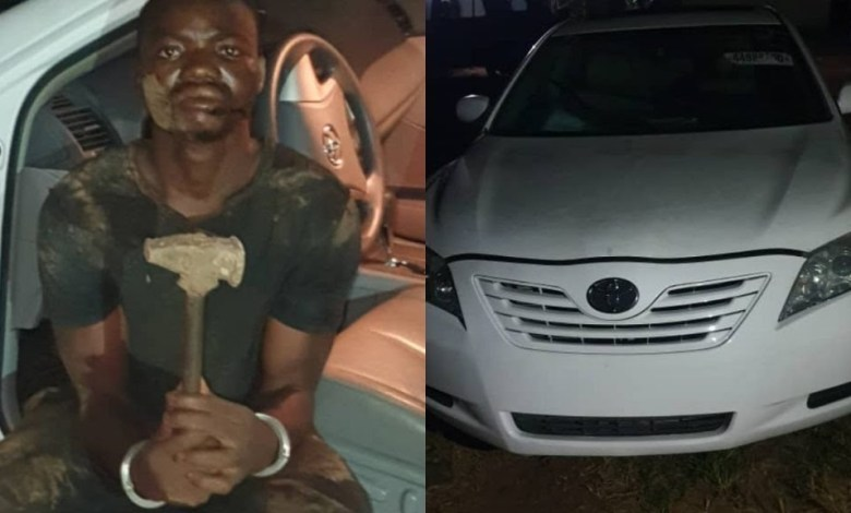 Fleeing Armed Robber arrested with snatched car