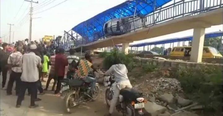Reckless driver kills one, others injured on Lagos pedestrian bridge