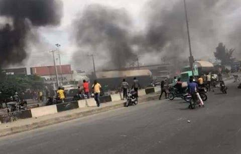 Commuters stranded as task force and motorcyclists clash on Oshodi-Apapa Expressway
