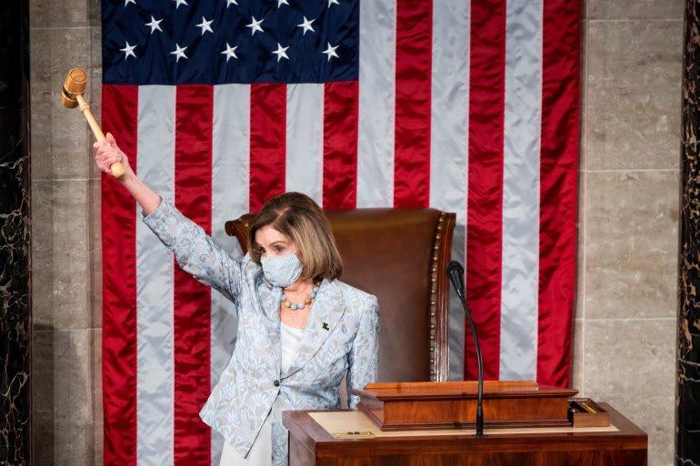 Nancy Pelosi re-elected US House of Reps Speaker