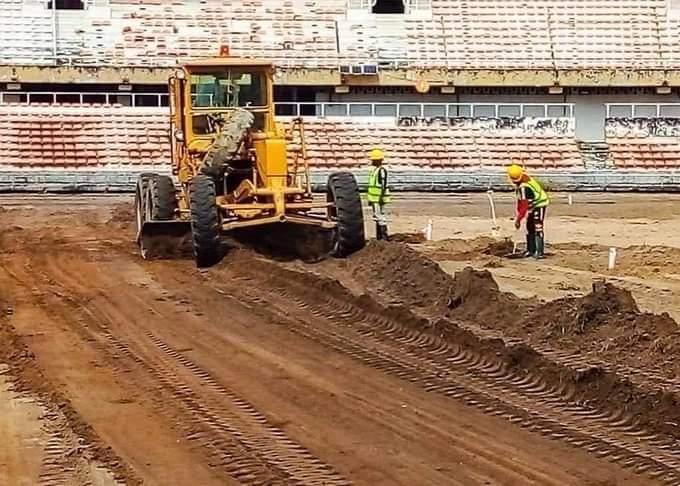 Photo News: National Stadium Surulere under reconstruction