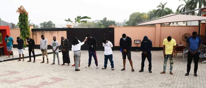 EFCC arrests 13 Yahoo-Boys in Ibadan