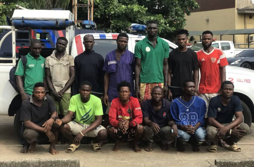 Lagos Police Command goes tough on traffic robbers, arrests 13 suspects