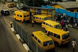 Commercial Bus Drivers protest in Lagos