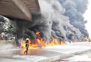 Petrol tanker explodes at Iyana Isolo, Lagos