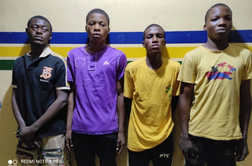 Police arrest 4 suspects for allegedly raping teenager in Ejigbo, Lagos