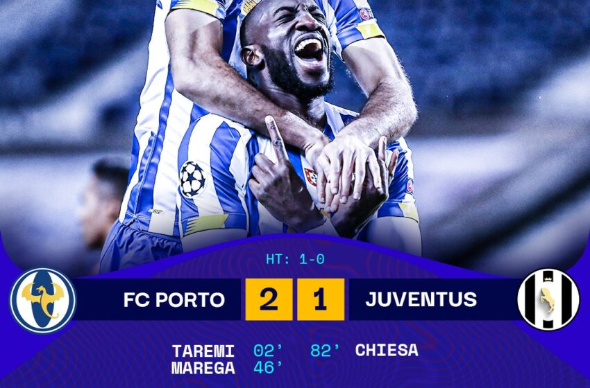 Porto hands shock defeat to Juventus in round of 16 clash