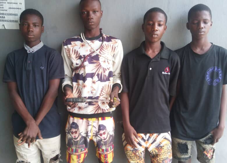 How police arrested suspected Ogun teenage cultists in Lagos