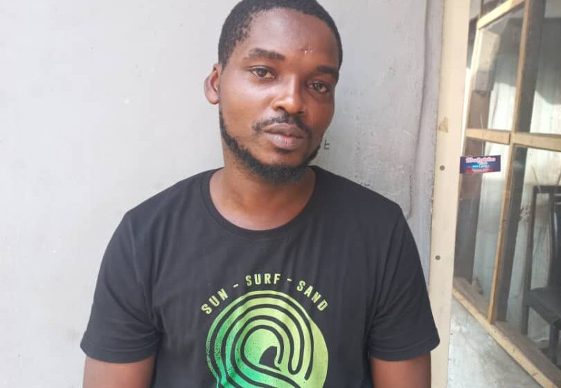 Police arrest man for driving against traffic in Lagos, assaulting officer