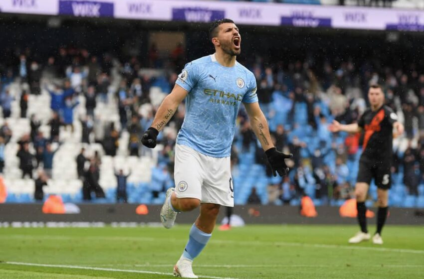 Aguero breaks Rooney record on farewell appearance