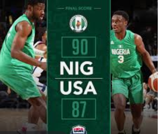 BasketBall: Nigeria becomes first African nation to defeat USA