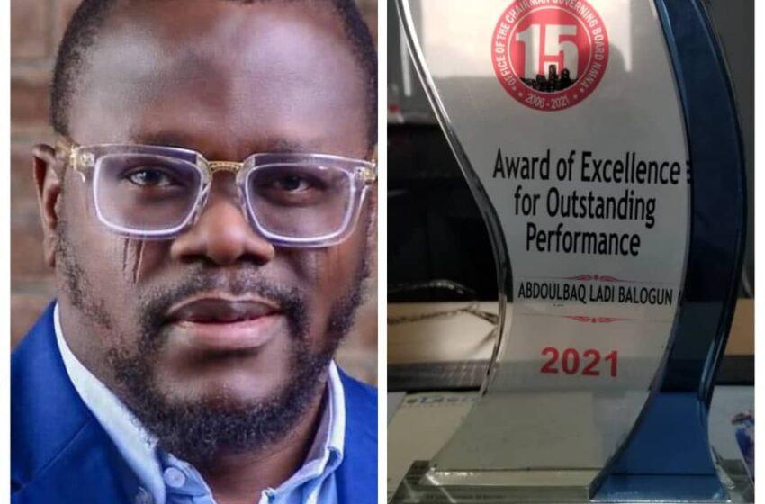 LAGFFERY MD, Balogun dedicates award to Sanwo-Olu