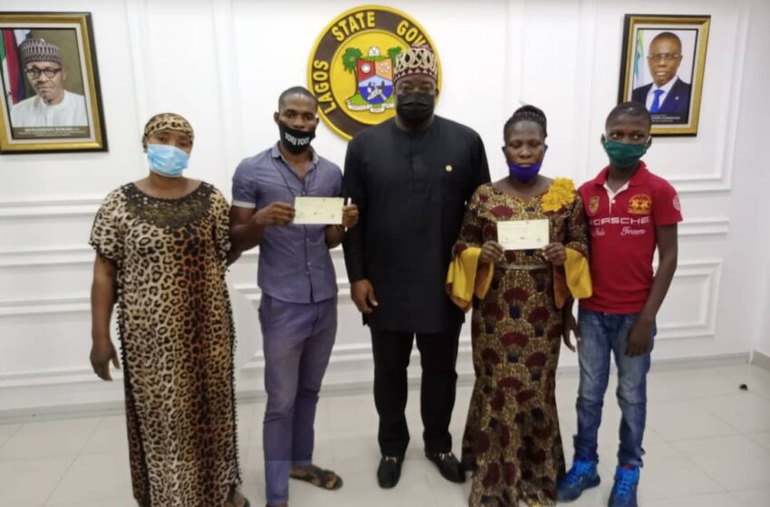 Sanwo-Olu compensates two deceased RRS officers' families with N20m