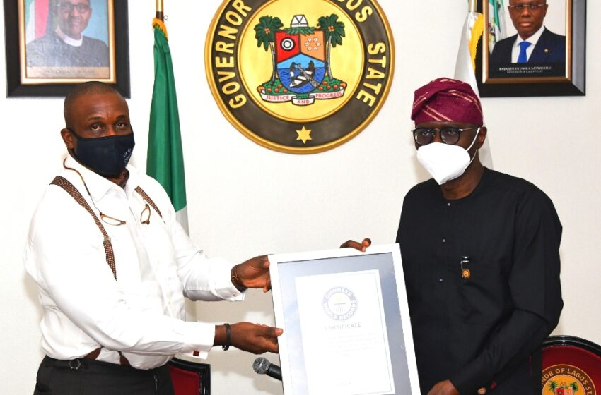 Sanwo-Olu recieves Guiness World Record Certificate for largest anniversary cupcakes