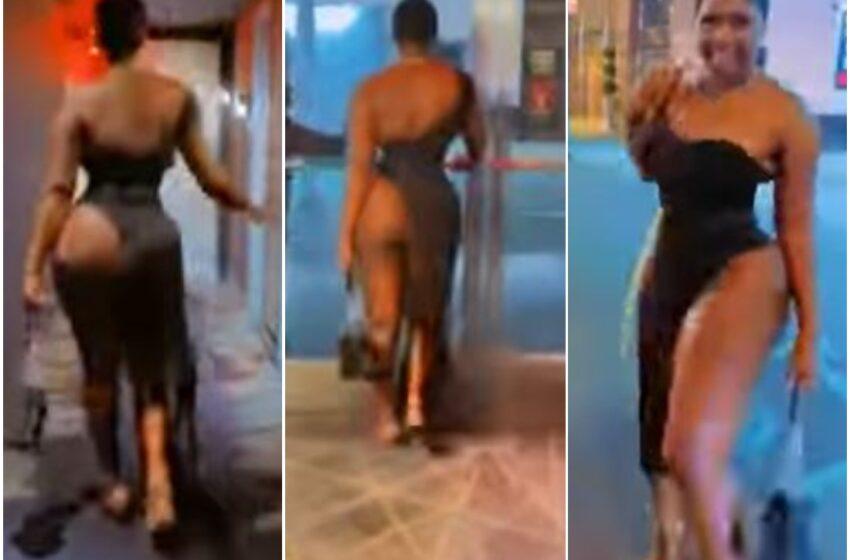 Nollywood Actress walks Half-Naked in public