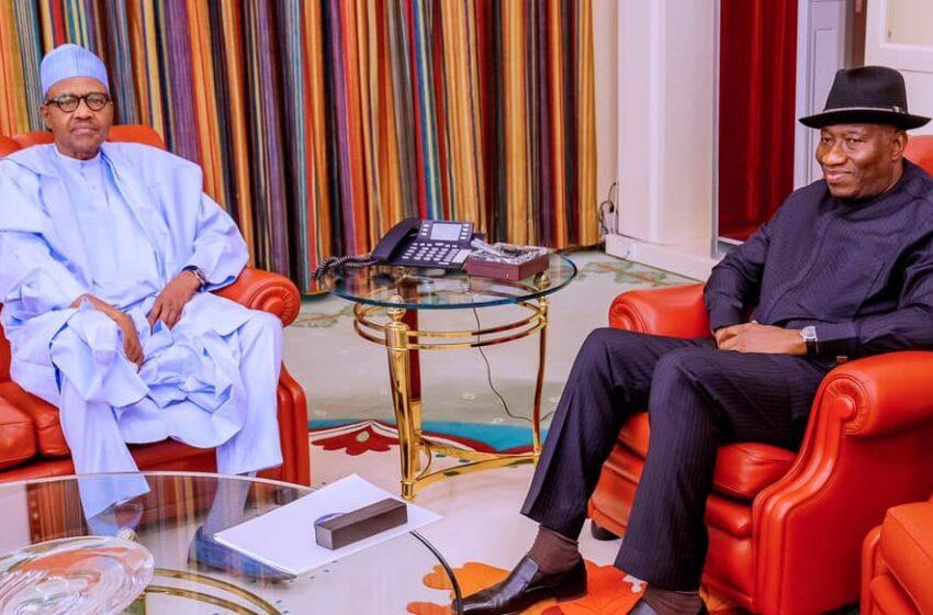 Buhari, Jonathan in closed-door meeting